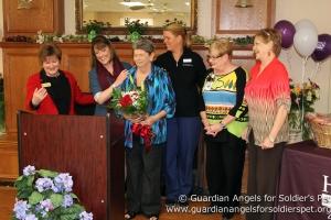 Judy Grayson (Garden Estates ALC), Brandy Firebaugh (HISC), Linda Spurlin-Dominik (Local Winner), Karen Handley (Hospice Compassus), Sonja Chupik (Seton Hospital), and Marie O'Neal (Cornerstone Garden Nursing & Rehab)